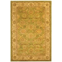 Safavieh Handmade Old World Light Green/ Ivory Wool Rug - 6' x 9'