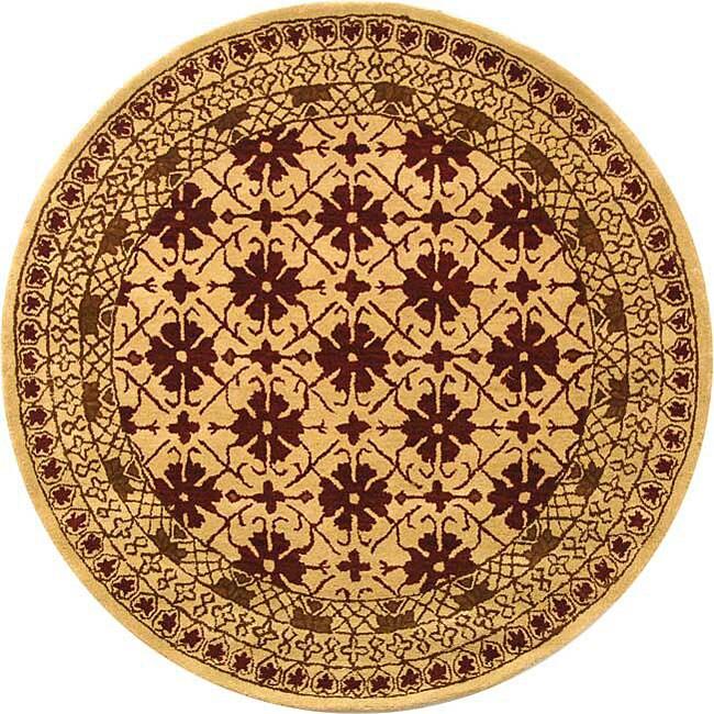 Shop Safavieh Handmade Classic Kashan Beige Wool Rug