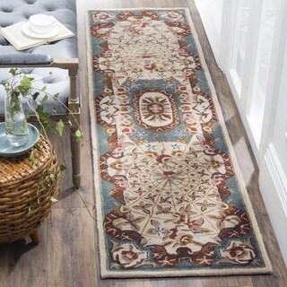 Safavieh Handmade Classic Empire Light Blue/ Ivory Wool Runner (2'3 x 10')