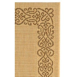 Safavieh Ocean Natural/ Brown Indoor/ Outdoor Rug (2' x 3'7) - Thumbnail 2