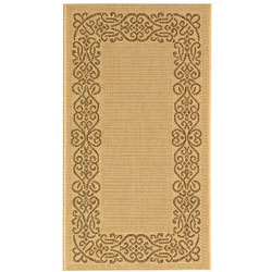 Safavieh Ocean Natural/ Brown Indoor/ Outdoor Rug - 2' x 3'7 - Thumbnail 0