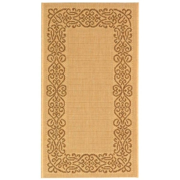 Safavieh Ocean Natural/ Brown Indoor/ Outdoor Rug - 2' x 3'-7""