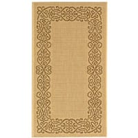 Safavieh Ocean Natural/ Brown Indoor/ Outdoor Rug (2'7 x 5')