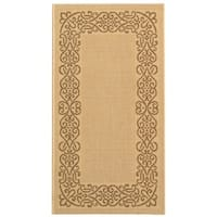 "Safavieh Ocean Natural/ Brown Indoor/ Outdoor Rug - 2'-7"" x 5'"
