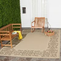 Safavieh Ocean Natural/ Brown Indoor/ Outdoor Rug - 6'7 x 9'6