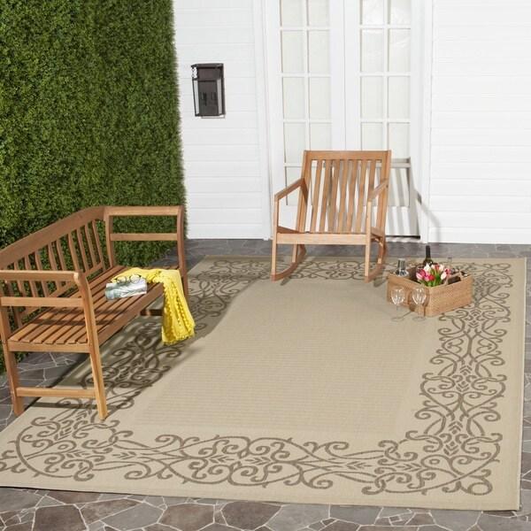 Safavieh Indoor/ Outdoor Ocean Natural/ Brown Rug (6'7 x 9'6)
