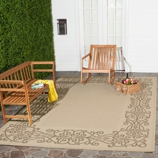 Safavieh Ocean Natural/ Brown Indoor/ Outdoor Rug (8' x 11')