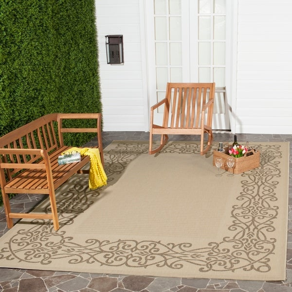 Safavieh Ocean Natural/ Brown Indoor/ Outdoor Rug - 8' X 11'