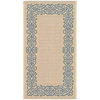 Safavieh Ocean Natural/ Blue Indoor/ Outdoor Rug - 2' x 3'-7""