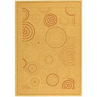 Safavieh Ocean Swirls Natural/ Terracotta Indoor/ Outdoor Rug - 7'10 x 11'