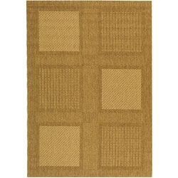 Safavieh Indoor/ Outdoor Lakeview Brown/ Natural Rug (6'7 x 9'6)