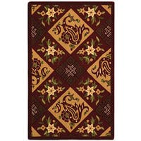 Safavieh Hand-hooked Sonote Red/ Ivory Wool Runner (2'6 x 4')