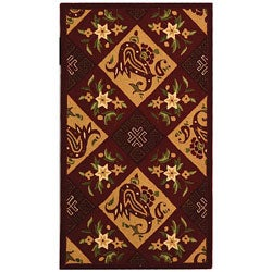 Safavieh Hand-hooked Sonote Red/ Ivory Wool Rug (2'9 x 4'9)