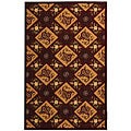 Safavieh Hand-hooked Sonote Red/ Ivory Wool Rug - 5'3 x 8'3
