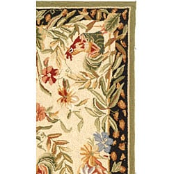 Safavieh Hand-hooked Rooster and Hen Cream/ Black Wool Rug (2'9 x 4'9) - Thumbnail 1