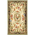 Safavieh Hand-hooked Rooster and Hen Cream/ Black Wool Rug - 2'9' x 4'9'
