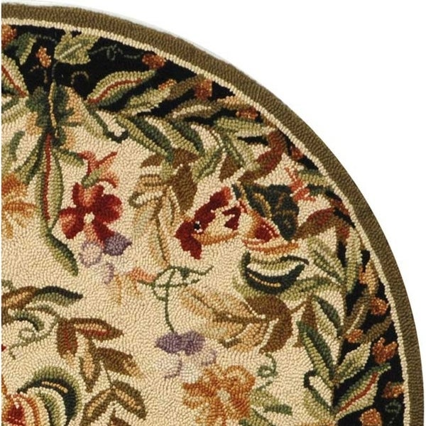 Shop Safavieh Hand-hooked Rooster And Hen Cream/ Black