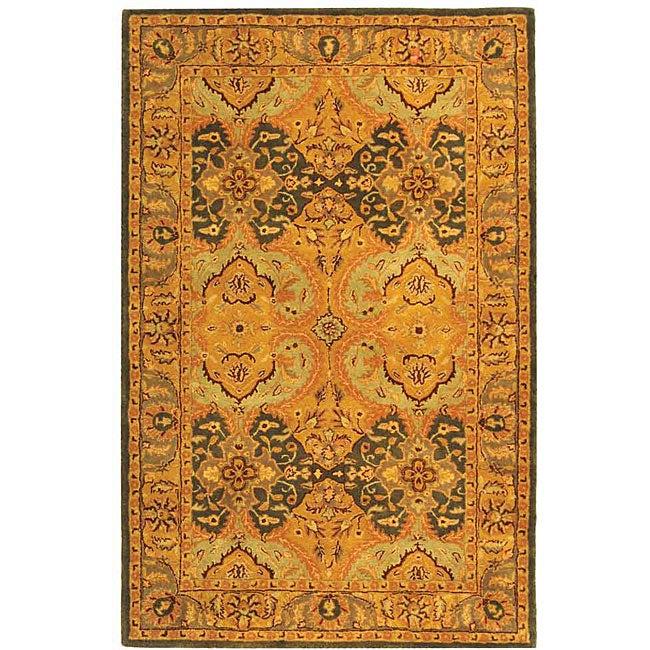 Safavieh Handmade Treasure Gold/ Green New Zealand Wool Rug (8' x 10')