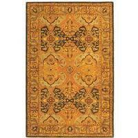 Safavieh Handmade Treasure Gold/ Green New Zealand Wool Rug - 8' x 10'