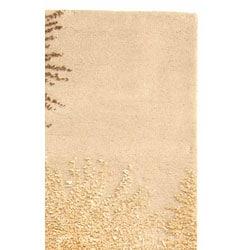 Safavieh Handmade Soho Burst Beige New Zealand Wool Runner (2'6 x 10') - Thumbnail 2