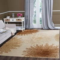 Safavieh Handmade Soho Burst Beige New Zealand Wool Rug - 8'3 x 11'