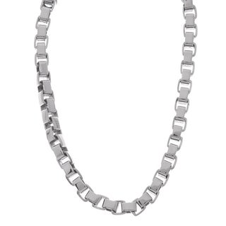 Stainless Steel 6mm Box Chain Necklace (20-30 inches)