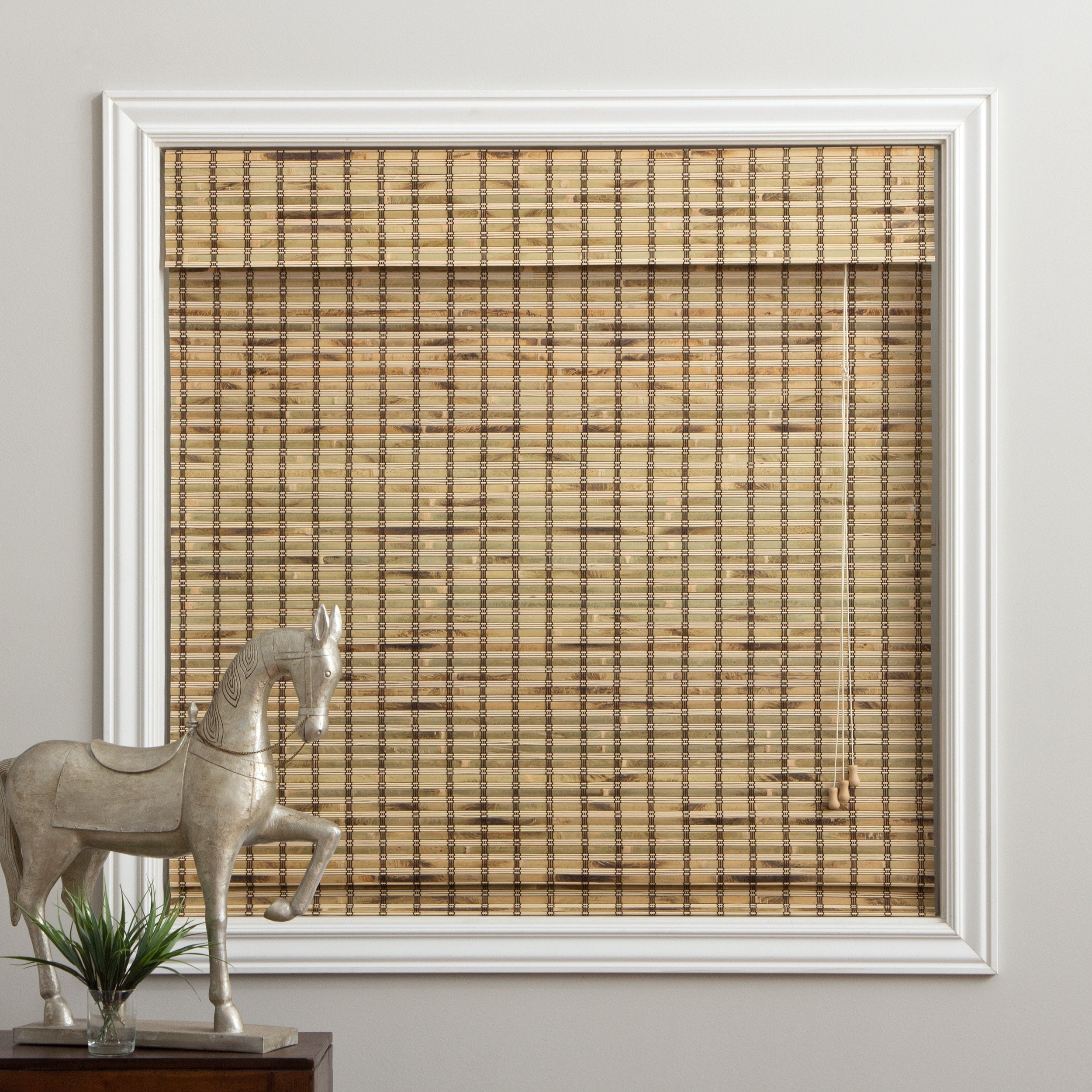 Arlo Blinds Rustique Bamboo Roman Shade with 54 Inch Heig...