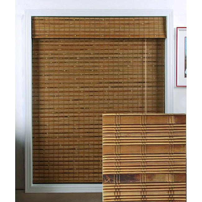 Arlo Blinds Dali Native Bamboo Roman Shade (28 in. x 74 in.)