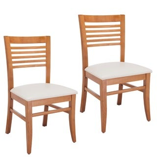 Rachel Wheat Venetian Cherry Dining Chair (Set of 2)