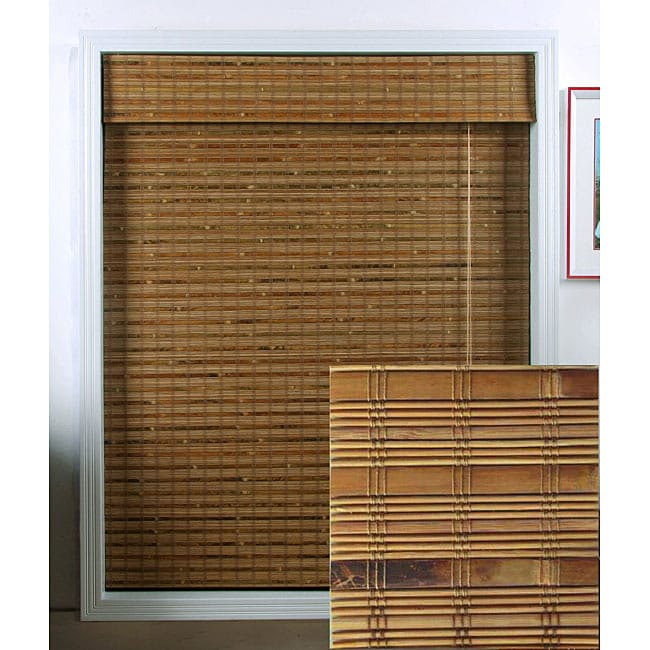 Arlo Blinds Dali Native Bamboo Roman Shade (69 in. x 74 in.) - Thumbnail 0