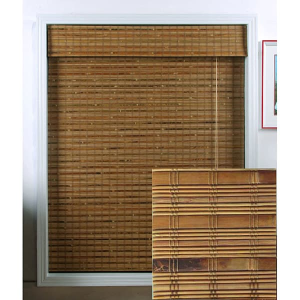 Arlo Blinds Dali Native Bamboo Roman Shade (41 in. x 98 in.)