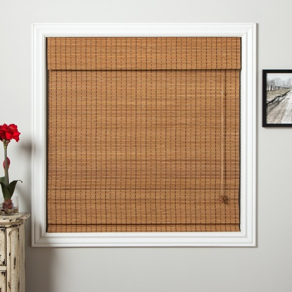 "Arlo Blinds Ginger Bamboo Roman Shade 54"" Length"