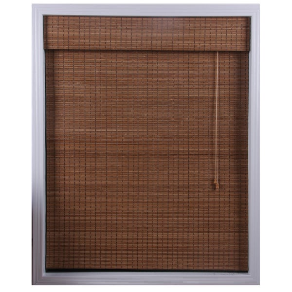 Arlo Blinds Ginger Bamboo Roman Shade (32 in. x 74 in.)