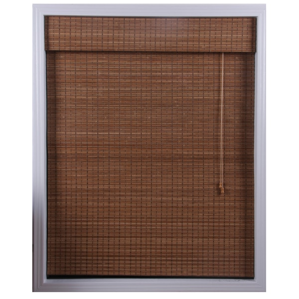 Arlo Blinds Ginger Bamboo Roman Shade (34 in. x 74 in.)