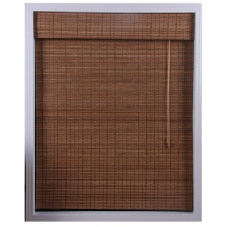 Arlo Blinds Ginger Bamboo Roman Shade (70 in. x 74 in.)