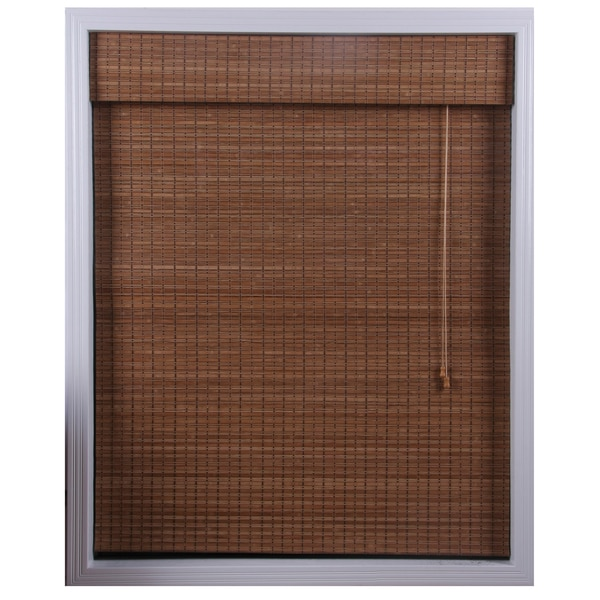 Arlo Blinds Ginger Bamboo Roman Shade (73 in. x 74 in.)