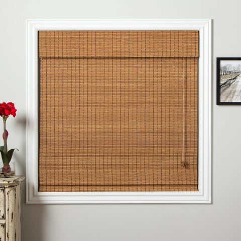 Arlo Blinds Ginger Bamboo Roman Shade with 98 Inch Height