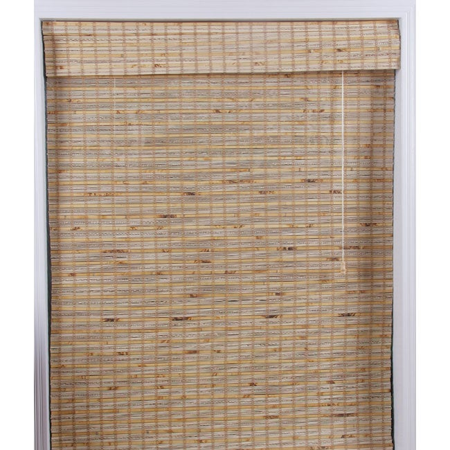 Arlo Blinds Mandalin Bamboo Roman Shade (56 in. x 74 in.)