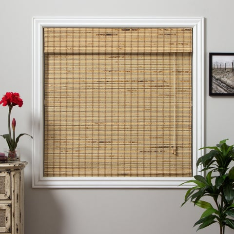Arlo Blinds Mandalin Bamboo Roman Shade with 98 Inch Height - 67inch width x98inch height