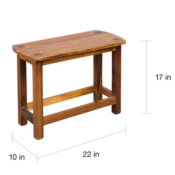Attractive Milking Bench Part - 2: Wooden Milking Bench (India) - Free Shipping Today - Overstock.com -  11397386