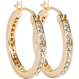 Simon Frank Designs Channel Set CZ Hoop Earrings