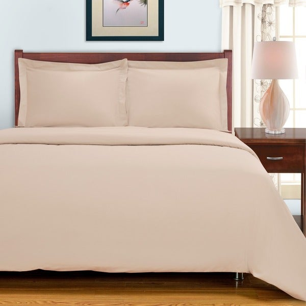 Superior 100-percent Premium Long-staple Combed Cotton 300 Thread Count Solid 3-piece Duvet Set