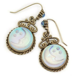 Sweet Romance Aurora Moon Vintage Earrings|https://ak1.ostkcdn.com/images/products/3297865/Sweet-Romance-Iridescent-Moon-Earrings-P11397505.jpg?impolicy=medium