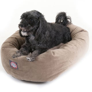 Bagel Donut 24-inch Faux Suede Pet Bed
