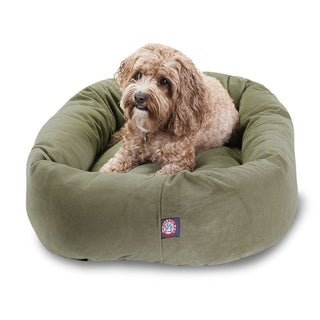 Bagel Donut 32-inch Faux Suede Pet Bed