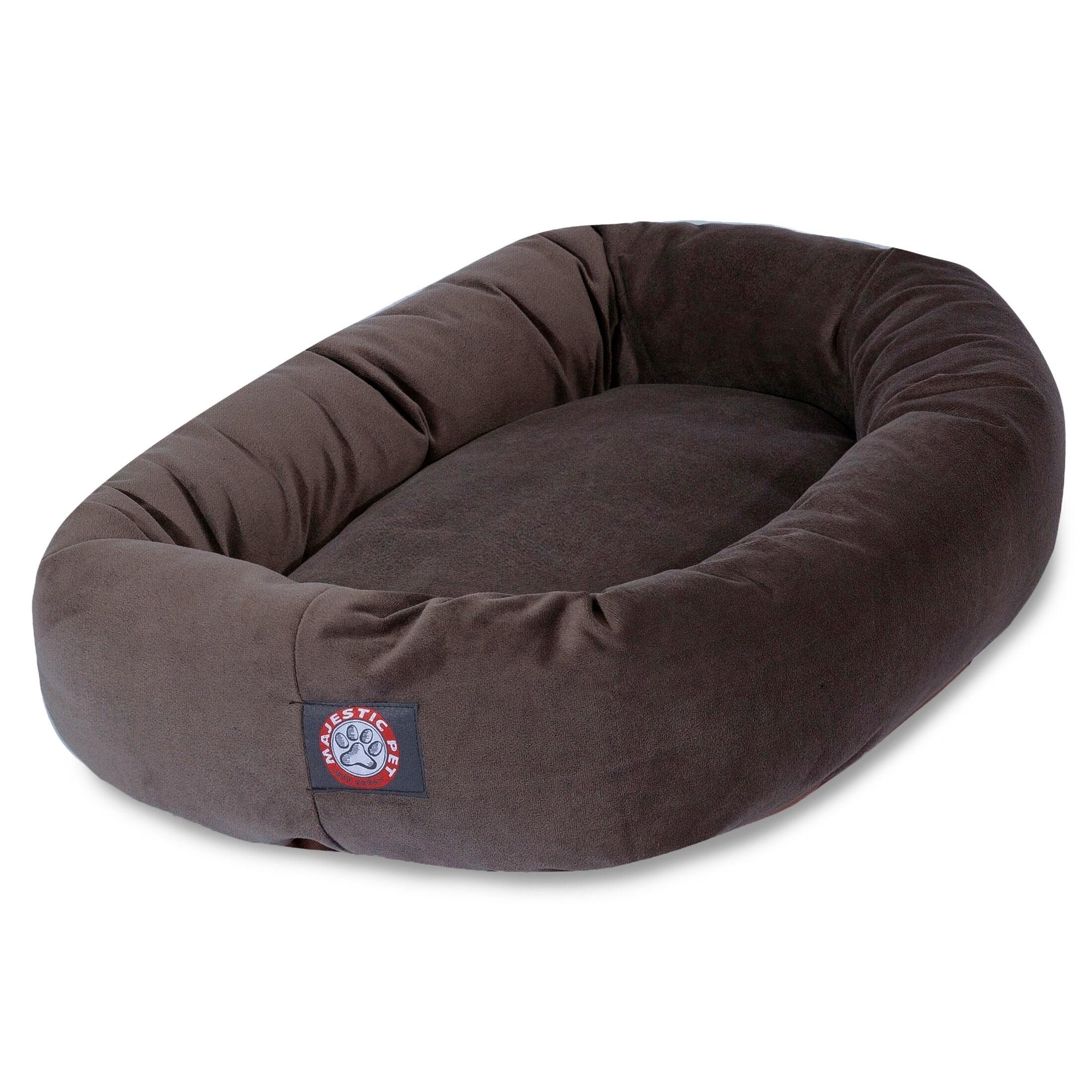 Majestic Pet Bagel Donut 40-inch Faux Suede Pet Bed (40-i...