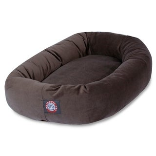 Bagel Donut 40-inch Faux Suede Pet Bed