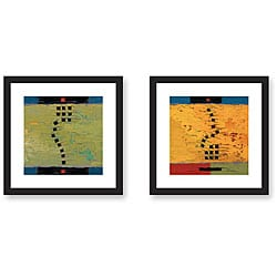 Gallery Direct Maxine Price 'Colors and Textures' Framed Art Set