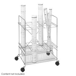 Safco 15-compartment Chrome Wire Roll File - Thumbnail 2