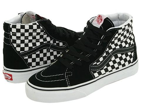 Shop Vans Kids SK8-Hi (Toddler Youth) Small Checkerboard Black True White  Athletic - Free Shipping On Orders Over  45 - Overstock - 4661671 586ec5c3ffe5